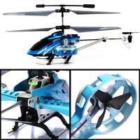 Avatar Z008 4CH Mini Metal RC Remote Control Helicopter RTF LED Light Gyro Blue