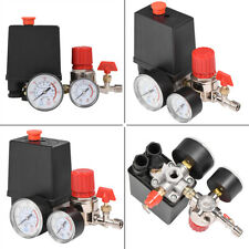 Air Compressor Pressure Switch Control Valve Manifold Regulator w/ Gauges Relief