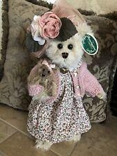 "Bearington Bears Daisy & Belle #1069 14"" Plush Bear W/Bear Pink Floral Dress MWT"