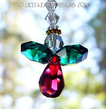 m/w Swarovski Christmas Rear View Mirror Angel #2 SunCatcher Lilli Heart Designs