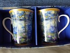 Monet Water lilies pair of mugs - Brand New In Box - Leonardo collection