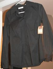 Womens COLDWATER CREEK Modern Shaped Shirt-Button: Black. Size: XS *NWT*