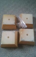000 Set of 4 Plastic Square Furniture Feet Desser Night Stand VTG