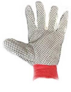 Cotton Canvas Polka Dot Grip Warehouse Packing Garden Work Gloves MULTI BUY UK