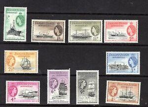 Falkland |Island Dependencies- 1954-62 Ships part set to 1/-    LHM