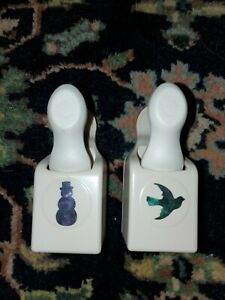 MARTHA STEWART PAPER PUNCH LOT OF 2 SNOWMAN & DOVE SCRAPBOOKING