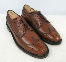 FLORSHEIM Royal Imperial V-Cleat Wingtip Pebble Grain Brown Longwing Shoes 8 C