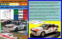 ANEXO DECAL 1/43 AUDI QUATTRO MICHELE MOUTON TOUR DE CORSE 1983 (01)