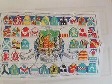 Scottish clans linen towel, series B, NOS 21.5 x 31