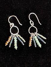 Silpada Petite Sterling Silver Tropical Palms Beaded Dangle Earrings Display