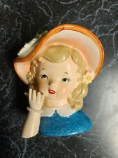 Early Japan Marked Girl Head Vase 50's-60's