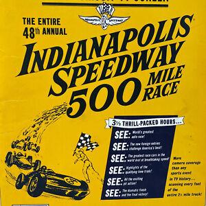 Original 1964 48th Annual Indianapolis Speedway 500 Mile Race Press Kit Folder