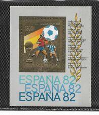 Chad Mundial de Futbol España 82 Hojita del año 1982 (EZ-790)