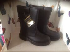 Mens Black Saftey Boots Steel Toe Cap Size 10 New Shop Clearance