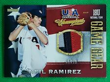 Neil Ramirez 2013 Panini USA Baseball #62 3 Clr Jersey Patch SN 62/99 - National