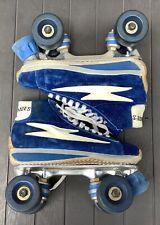 Vintage Women's Olympian Blue Suede CheapSkates Roller Skates Size 6 w/ box