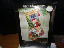 gold collection sweet dreams counted cross stich stocking kit uk seller