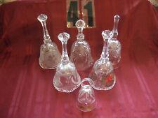 Bells Vintage Bohemian German & Other Mnfg. Hand Cut Led Crystal Glass Super Buy