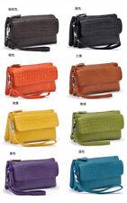 New Women genuine Leather Purse Cards Holder Shoulder Bag Clutch Wallets
