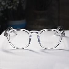 Vintage Round Crystal Clear Glasses Johhny Depp Eyeglasses High Acetate Frame