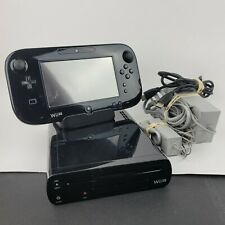 Nintendo Wii U 32GB Black Console w/1 Game- Chargers - Stands - Cables - Tested