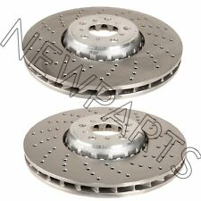 For BMW E85 X5 E86 X6 M Pair Set of Left & Right Vented Drilled Brake Rotors OEM
