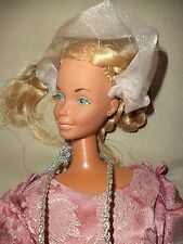 VINTAGE BARBIE JEWELRY DRESS  HAT 1977 MATTEL 18 INCHES TALL GOWN