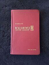 Rolls-Royce Silver Shadow Owners Manual Handbook 1966 OEM USA CANADA TSD2216