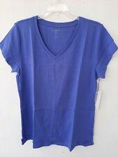Liz Claiborne Size XLT Women Purple Top Tshirt Cotton