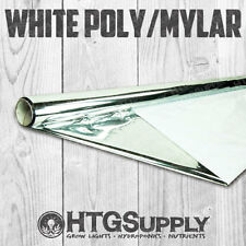4' x 100' MYLAR GROW ROOM LINER Hydroponic Reflective Mirror Film Shiny POLY ft