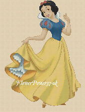 Disney Cross stitch chart Snow White FlowerPower37-uk FREE UK P&P