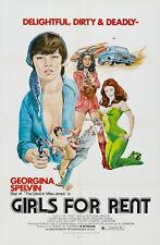 GIRLS FOR RENT Movie POSTER 27x40 Georgina Spelvin Susan McIver Rosalind Miles