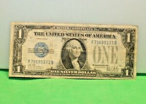 1928 B $1 Silver Certificate (Funny Back) Blue Seal