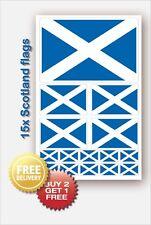15 x  Scotland SCOTTISH FLAG vinyl decals Car Van Bike Waterproof Stickers Flags