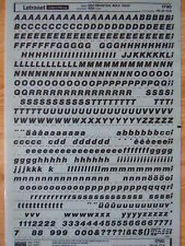 LETRASET Rub On Letter Transfers HELVETICA BOLD ITALIC 28pt (#1790) used