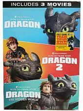 How To Train Your Dragon : Trilogy 1-3 (DVD, 2019) Brand New! FREE SHIPPING!!