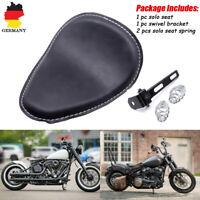3''Solositz Sattel Sitz Federn Halteschiene Set Für Harley Softail Bobber Custom