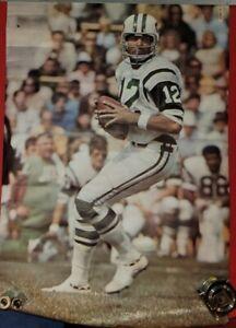 Vintage Original 1970 JOE NAMATH Sports Illustrated NEW YORK JETS Poster24x36