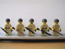 Lego WW2 USMC Tan Infantry Soldiers MINIFIGS Weapons Tank NEW