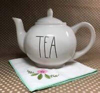 "Free Shipping! RAE DUNN LL ""TEA"" TEAPOT Ceramic With Lid FARMHOUSE NEW"