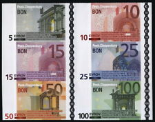 Slovenia, 6 coupons with pictures of Euro banknotes, Peek&Cloppenburg, not valid