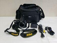 Nikon D5000 Digital Slr Camera Black Tested Working Body+Charger+Battery+Av Cord