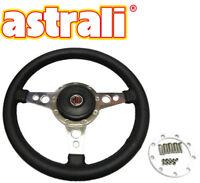 """Astrali 14"""" Sports Black Steering Wheel MG MGB GT, MGB Roadster, MG Midget"""
