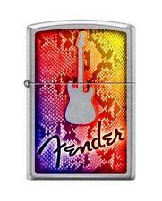 Zippo 7570 Fender Guitar Street Chrome Finish Lighter