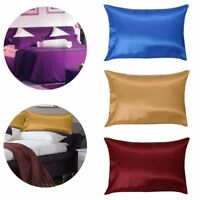 2 X SILK PILLOW CASE BLEND HOUSEWIFE PAIR PACK BEDROOM PILLOW COVER