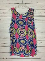 Umgee Boutique Women's L Large Pink Sleeveless Cute Spring Summer Top Tunic Tank