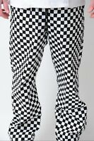 CHEF TROUSERS CHEF WHITE BLACK CHESSBOARD CHECK CHEF UNIFORM UNISEX