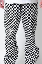 More details for chef trousers chef white black chessboard check chef uniform unisex