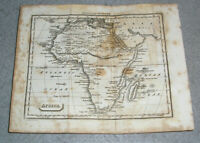 Antique Africa Map Egypt Nile Congo Sub-Sahara Unknown Unmapped Russell c. 1820