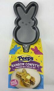Peeps Pancake Pan and Mix Set Rainbow Confetti Easter Bunny